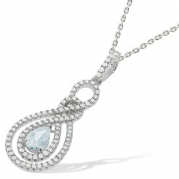 "J-Jaz Micro Pave Fancy Cz Pendant with 18"" Chain #3"